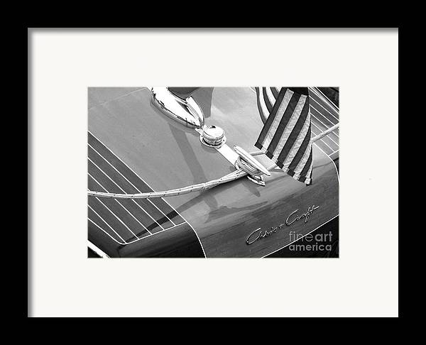 Chris Craft Framed Print featuring the photograph Late 1940's Chris Craft Custom by Neil Zimmerman