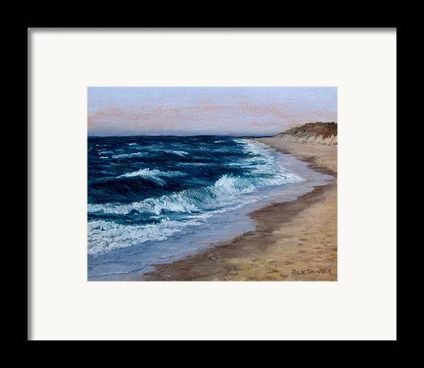 Ocean Framed Print featuring the painting Late Spring At Cold Storage Beach by Jack Skinner