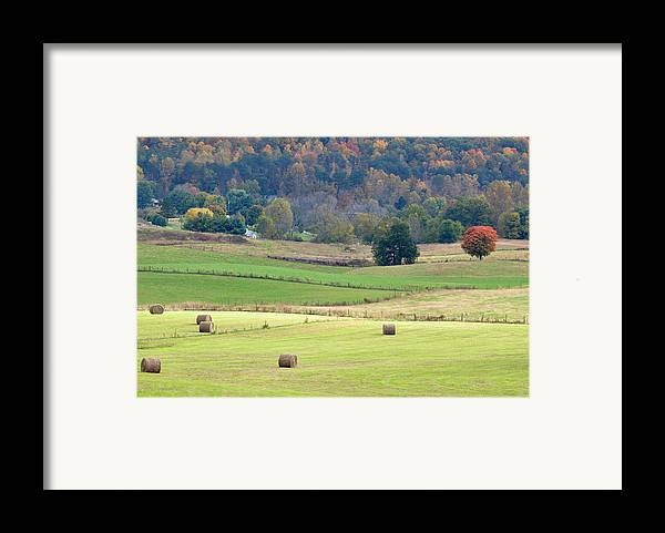 Landscapes Framed Print featuring the photograph Layers Of Fields by Jan Amiss Photography