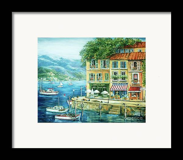 Europe Framed Print featuring the painting Le Port by Marilyn Dunlap