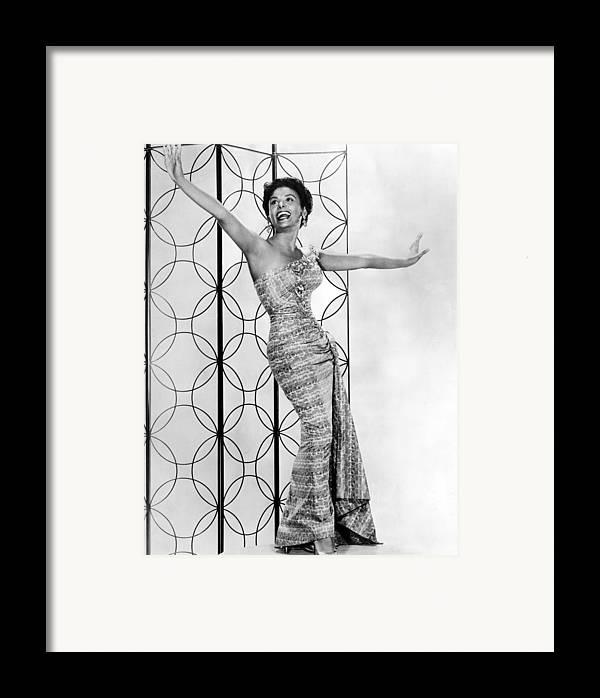 1950s Framed Print featuring the photograph Lena Horne. Ca. 1950s. Courtesy Csu by Everett