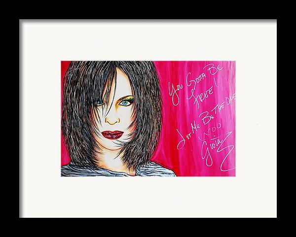 Autographed Framed Print featuring the mixed media Let Me B Free And The One by Joseph Lawrence Vasile