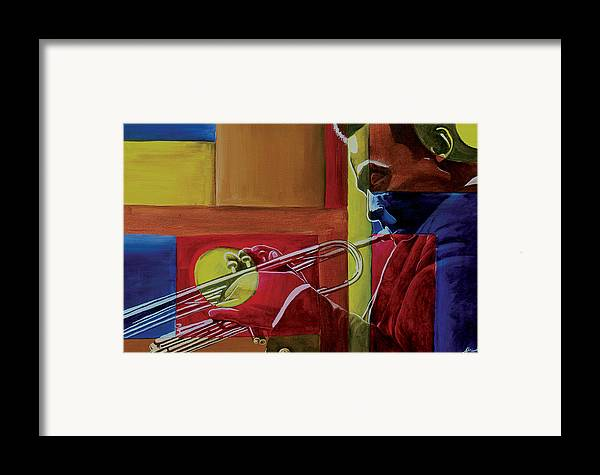 Black Art Framed Print featuring the painting Let Me Play by Stacy V McClain