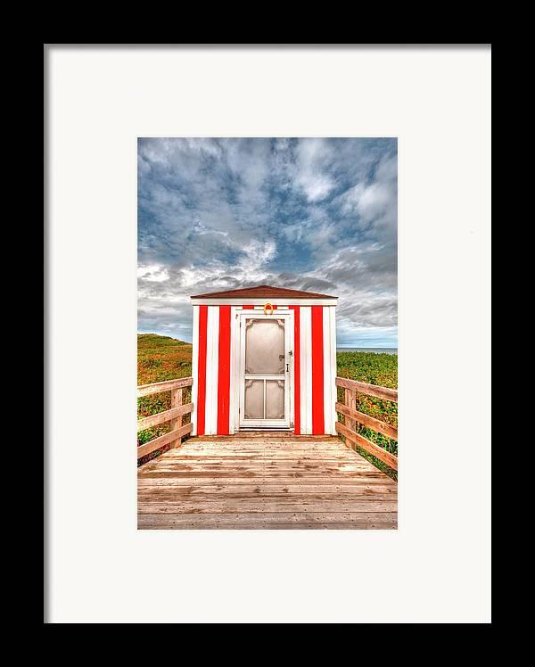 Pei Framed Print featuring the photograph Lifeguard Hut by Elisabeth Van Eyken