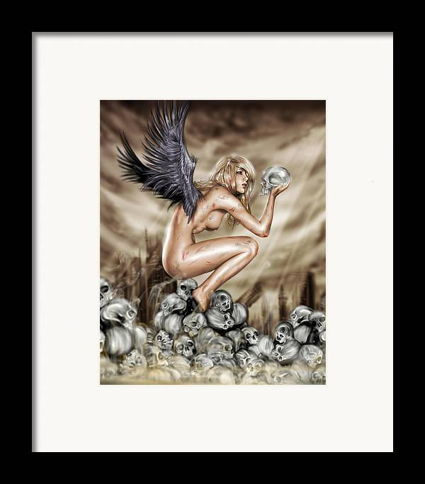 Pete Framed Print featuring the painting Lifting The Veil by Pete Tapang
