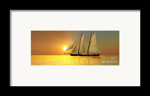 Sailing Framed Print featuring the painting Light Of Life by Corey Ford