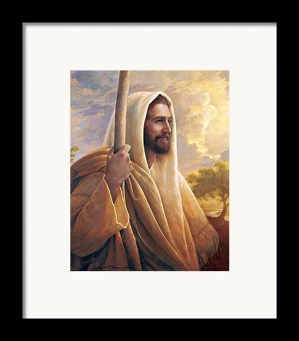 Light Of The World Framed Print featuring the painting Light Of The World by Greg Olsen