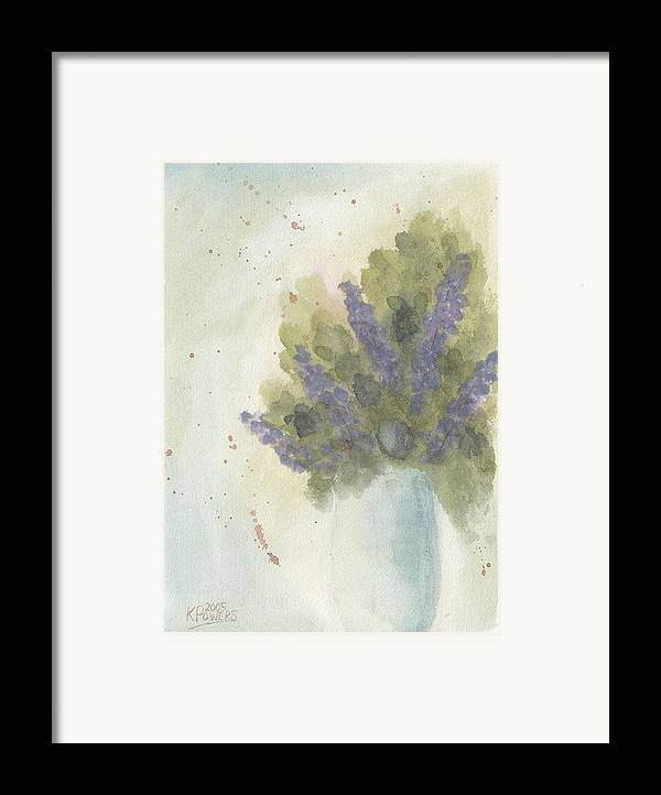 Lilac Framed Print featuring the painting Lilacs by Ken Powers