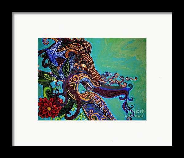 Gargoyle Lion Framed Print featuring the painting Lion Gargoyle by Genevieve Esson