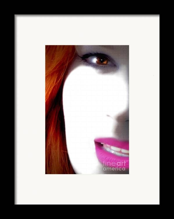 Women Framed Print featuring the photograph Lips by Steven Digman