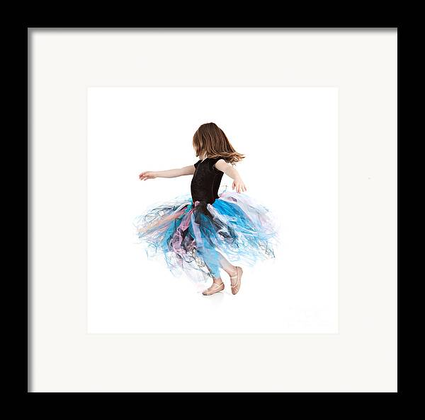 Little Girl Framed Print featuring the photograph Little Ballerina by Cindy Singleton