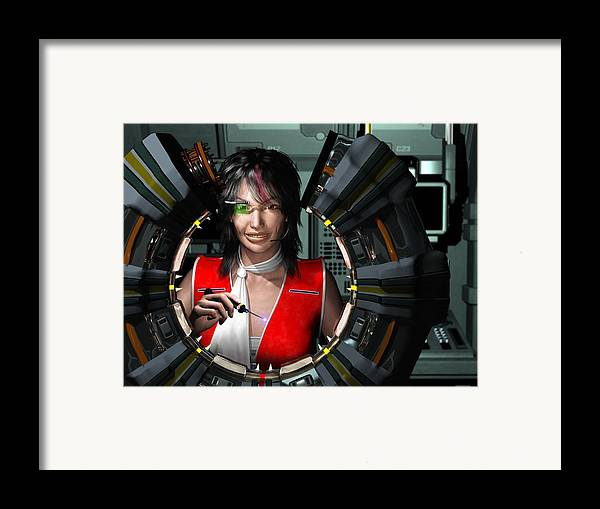 3d Framed Print featuring the digital art Lizbeth On Board by Jim Coe