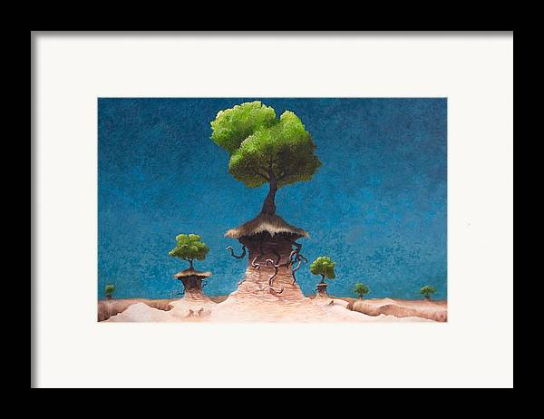 Woman Framed Print featuring the painting Lost Void by Ethan Harris