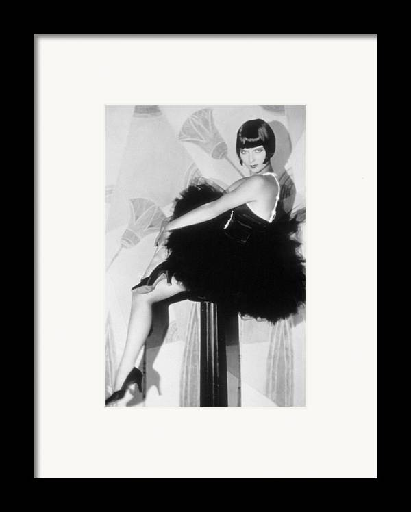 1920s Fashion Framed Print featuring the photograph Louise Brooks, C. 1929 by Everett