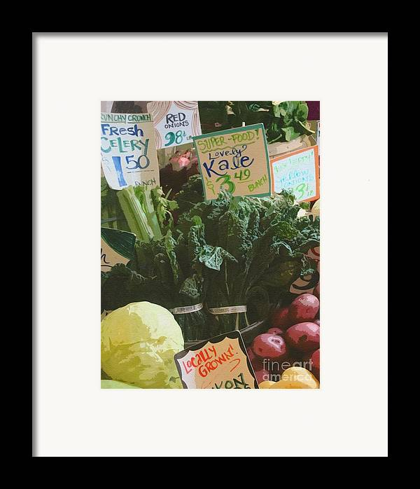 Kale Framed Print featuring the photograph Lovely Kale by Lydia L Kramer