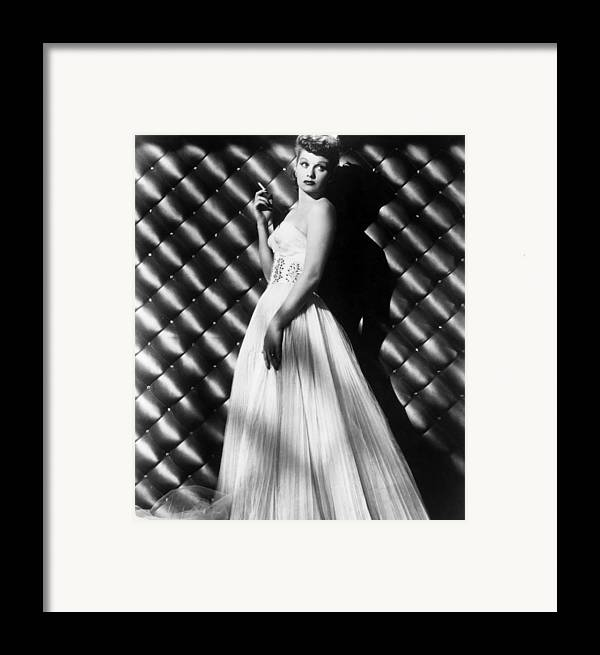 1950s Portraits Framed Print featuring the photograph Lucille Ball, Ca. 1950s by Everett