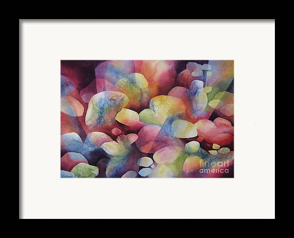 Abstract Framed Print featuring the painting Luminosity by Deborah Ronglien
