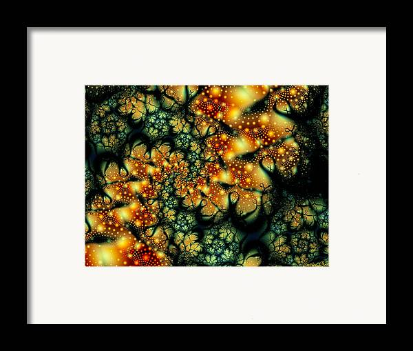 Lurking Framed Print featuring the digital art Lurking by Lauren Goia