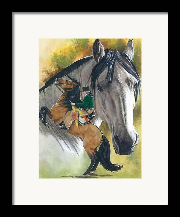 Horses Framed Print featuring the painting Lusitano by Barbara Keith