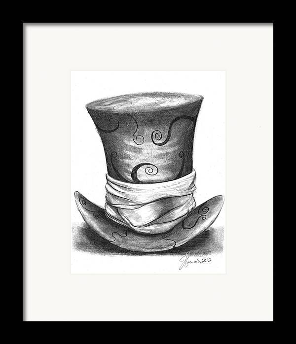 Hat Framed Print featuring the drawing Mad Hat by J Ferwerda