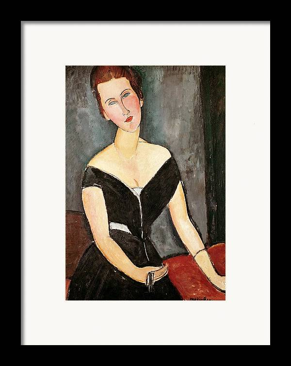 Madame Framed Print featuring the painting Madame G Van Muyden by Amedeo Modigliani
