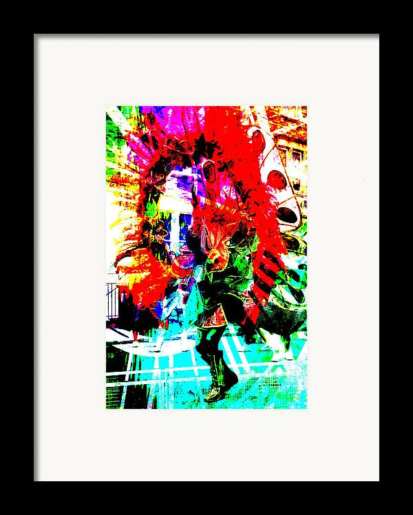 Abstract Framed Print featuring the photograph Madi Gras by Brian Roscorla