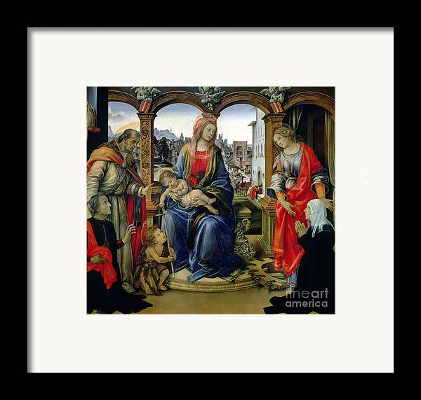 Nerli Framed Print featuring the painting Madonna And Child by Filippino Lippi