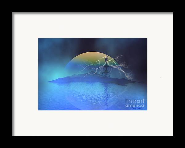 Space Art Framed Print featuring the painting Magnetic Flux by Corey Ford