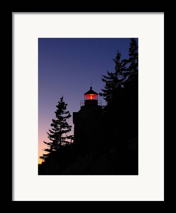 Acadia Lighthouse Framed Print featuring the photograph Maine Lighthouse by Juergen Roth