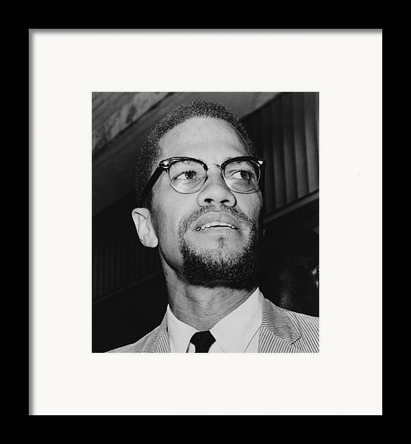 History Framed Print featuring the photograph Malcolm X 1925-1965 In 1964, The Year by Everett
