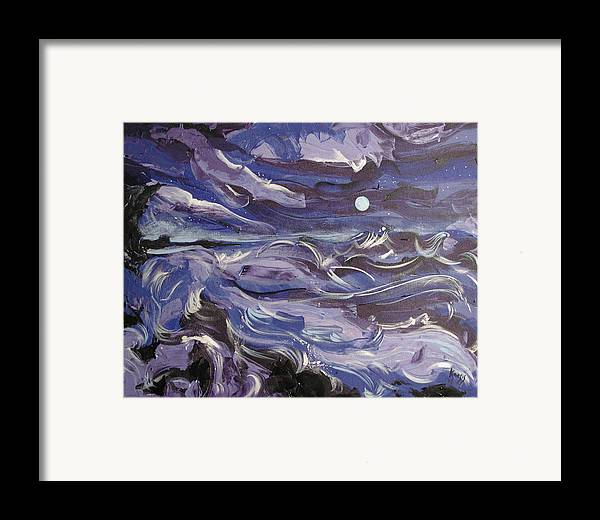 Sea Framed Print featuring the painting Mar Bravo by Rollin Kocsis