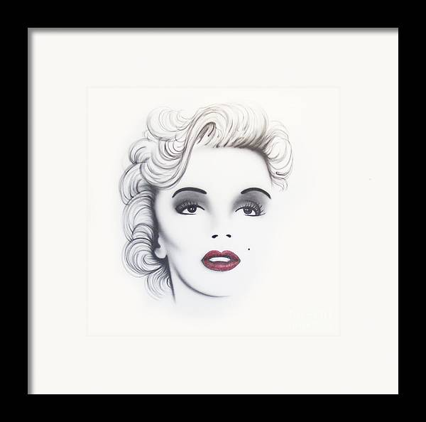 Movie Framed Print featuring the painting Marilyn Monroe by Devaron Jeffery