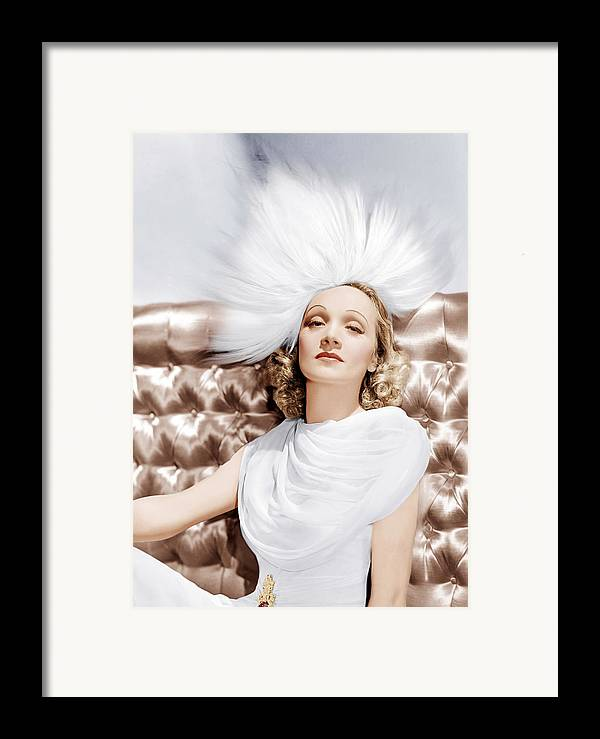 1930s Portraits Framed Print featuring the photograph Marlene Dietrich, Ca. 1930s by Everett