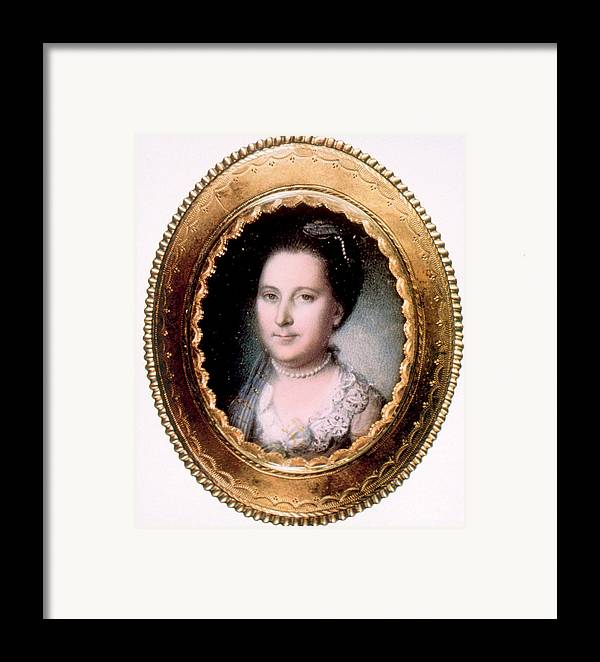 First Lady Framed Print featuring the photograph Martha Washington 1731-1802, First Lady by Everett