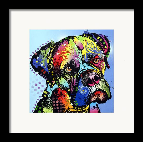 Dog Framed Print featuring the painting Mastiff Warrior by Dean Russo
