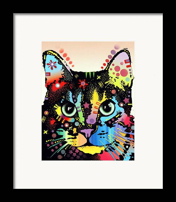 Cat Art Framed Print featuring the painting Maya Warrior by Dean Russo