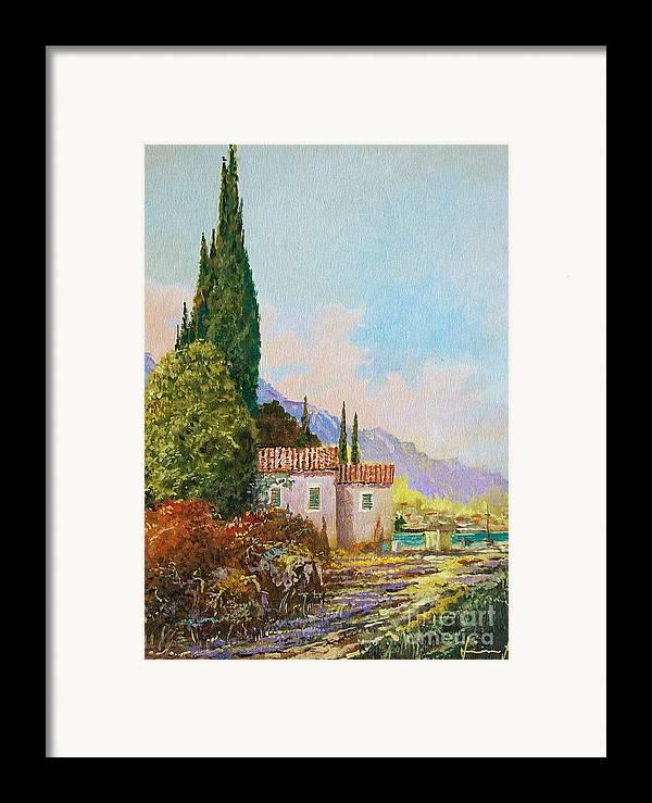 Original Painting Framed Print featuring the painting Mediterraneo 2 by Sinisa Saratlic