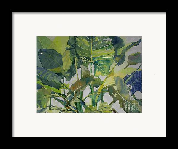 Green Framed Print featuring the painting Mess Of Greens by Elizabeth Carr