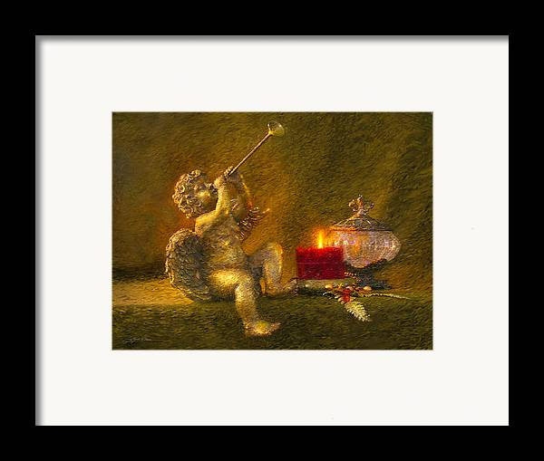 Angel Framed Print featuring the painting Messages From Heaven by Greg Olsen