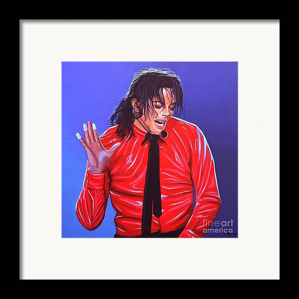 Michael Jackson Framed Print featuring the painting Michael Jackson 2 by Paul Meijering