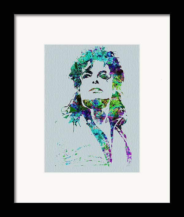 Michael Jackson Framed Print featuring the painting Michael Jackson by Naxart Studio