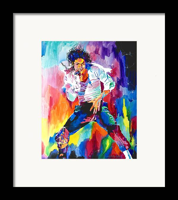 Michael Jackson Framed Print featuring the painting Michael Jackson Wind by David Lloyd Glover