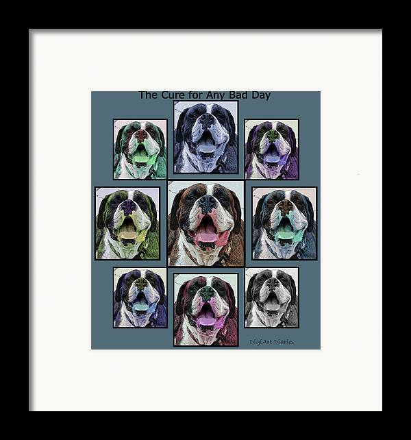 Boxer Framed Print featuring the digital art Miles Of Smiles by DigiArt Diaries by Vicky B Fuller