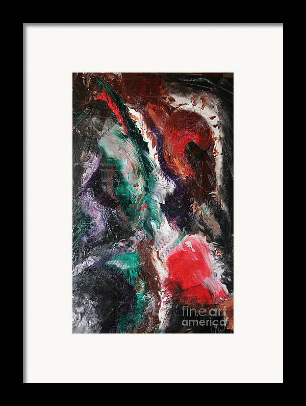 Abstract Framed Print featuring the painting Minds Design by Toni Daniel