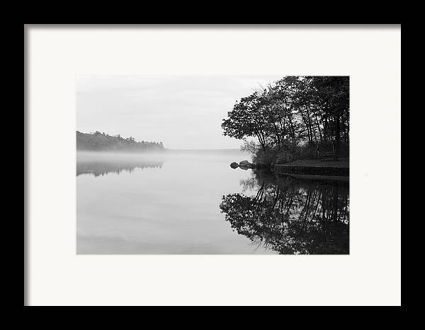 Douglas Framed Print featuring the photograph Misty Cove by Luke Moore