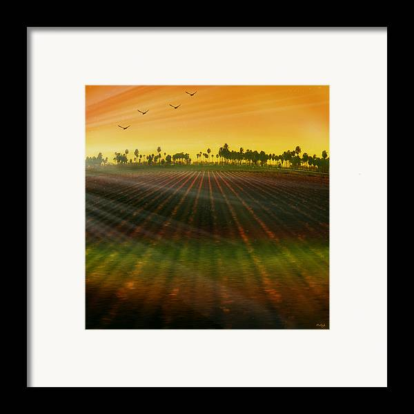Landscape Framed Print featuring the photograph Morning Has Broken by Holly Kempe