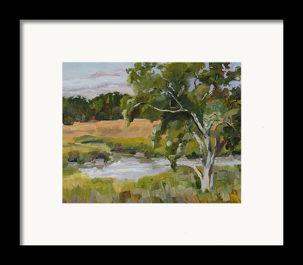 Impressionism Framed Print featuring the painting Morning Transition by Barbara Benedict Jones