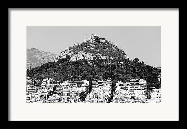 Mount Lykavittos Framed Print featuring the photograph Mount Lykavittos by John Rizzuto