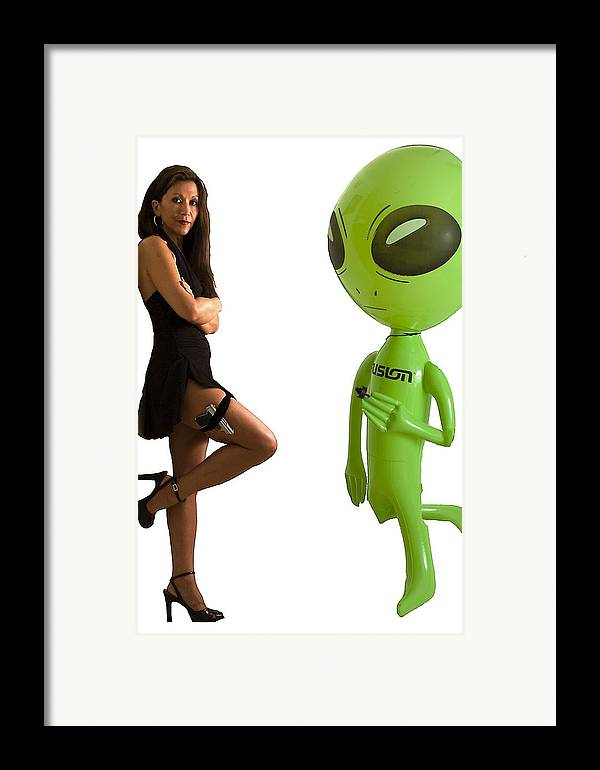Model Framed Print featuring the photograph Mr. And Mrs Alien by Richard Henne