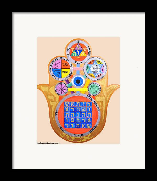 Multiple Framed Print featuring the painting Multiple Solomaic Amulets by Darren Stein